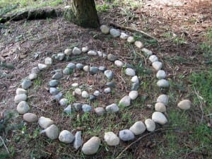 small rock spiral